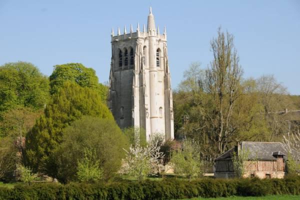 abbaye du bec hellouin - la tour saint nicolas