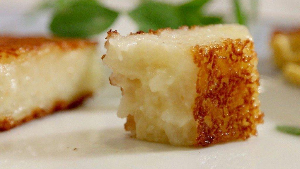 Que faire avec les reste d'un risotto au Safran ?  Des frites de risotto !