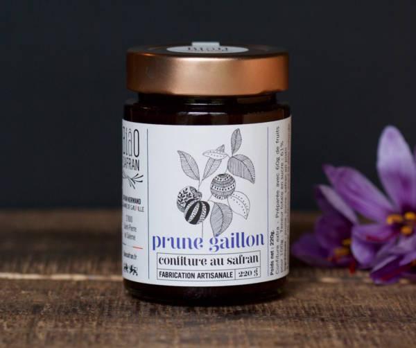 Confiture de prune Gaillon au safran.