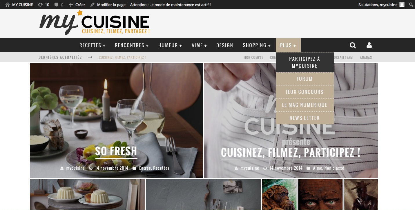 My cuisine Site Internet : Design